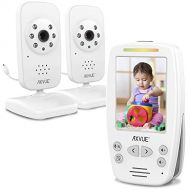 "Axvue AXVUE E662 Video Baby Monitor with Two Cameras and 2.8"" LCD, Night Vision, Night Light, Temperature..."