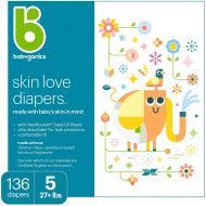 Diapers, Size 5, 136 ct, Babyganics Ultra Absorbent Diapers, Packaging May Vary: Baby