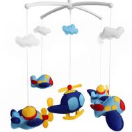 Black Temptation [Plane] Creative Crib Mobile Infant Bed Hanging Bell Crib Toy