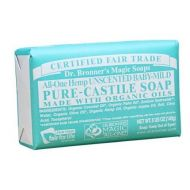 Bobfriend Dr. Bronners Magic Soaps Pure-Castile Soap, All-One Unscented Baby-Mild, 5-Ounce Bars (Pack of 6)