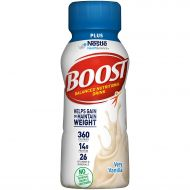 Boost Nutritional Drinks Boost Plus Complete Nutritional Drink, Very Vanilla, 8 fl oz Bottle, 24 Pack