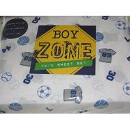 Boy Zone Sports Themed TWIN Sheet Set