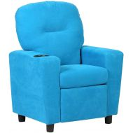 Costzon Kids Recliner Chair Children Reclining Sofa Seat Couch wCup Holder (Blue)