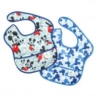 Bumkins Baby Bib, Disney Waterproof SuperBib 2 Pack, Mickey Mouse (ClassicIcon) (6-24 Months)