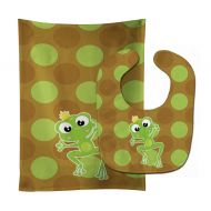Caroline's Treasures Carolines Treasures Frog Prince No. 5 Baby Bib & Burp Cloth, Multicolor, Large