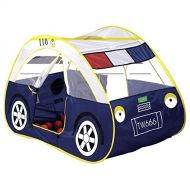 ChezMax Kids Pop-Up Car Play Tent with Side Door Entrance for Indoor or Outdoor Use, Blue