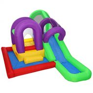 Cloud 9 Wet n Slide Bounce House - Inflatable Combo with Wading Splash Pool, without Blower