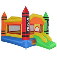 Cloud 9 Mini Crayon Bounce House - Inflatable Bouncing Jumper Without Blower