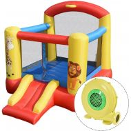 Costzon Inflatable Bouncy House Jumping Castle Bouncer Kids Activity Center With 480W Blower
