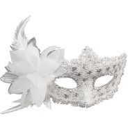 Coxeer Masquerade Mask for Women Mardi Gras Mask with Flower