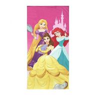 Disney Princess Super Soft & Absorbent Kids Bath/Pool/Beach Towel, Featuring Belle, Ariel & Rapunzel - Fade Resistant Cotton Terry Towel, Measures 28 inch x 58 inch (Official Disne