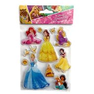 Disney Princesses Jelly Removable Sticker Disney Beautifully Illustrated Princesses Collection Jelly Stickers Snow White, Belle, Ariel, Jasmine, Cinderella, Rapunzel  1 Sheet