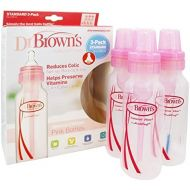 Dr. Browns - Natural Flow Standard Baby Bottle 3-Pack Pink - 8 oz.