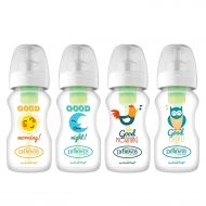 Dr. Browns Options Wide-Neck Baby Bottles, Good Morning/Night, 4 Count