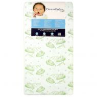 Dream On Me, Twilight 5 Coil Spring Crib And Toddler Mattress, Green Cloud