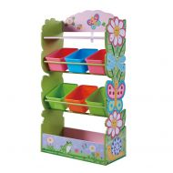 Fantasy Fields - Magic Garden Kids Toy Organizer with 6 Combo Bins and Extra Storage, Pink