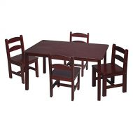 Gift Mark Rectangle Table and Chair Set - 5 Piece
