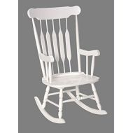 Gift Mark Adult Solid Wood Rocking Chair White