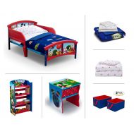Graco Disney Mickey Mouse Toddler Room Set, 6-Piece (Toddler Bed | Bookcase | Side Table | Bedding Set |...