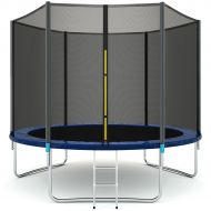 Gymax 10 FT Trampoline Combo Bounce Jump Safety Enclosure Net WSpring Pad Ladder