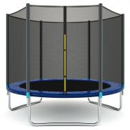 Gymax 8 FT Trampoline Combo Bounce Jump Safety Enclosure Net WSpring Safety Pad