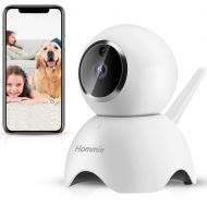 Hommie Portable Baby Secure Monitor with Wireless IP Camera Night Vision, 2.4GHz WIFI 1080P HD Home Security Camera