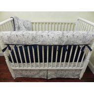 Just Baby Designs Inc Airplane Nursery Bedding, Baby Boy Airplane Crib Bedding Set Hayes, Boy Baby Bedding, Crib Rail Cover, Navy Crib Bedding - Choose Your Pieces