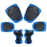 KUYOU Sports Protective Gear Safety Pad Safeguard (Knee Elbow Wrist) Support Pad Set Equipment for Kids Roller Bicycle BMX Bike Skateboard Protector Guards Pads.
