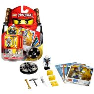 LEGO Lego Year 2011 Ninjago Masters of Spinjitzu Animated Series Battle Figure Set # 2116 - KRAZI with Golden Bone, Pickaxe, and Double Bladed Bone Dagger Plus Black Lightning Spinner,