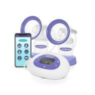 Lansinoh Smartpump Double Electric Breast Pump, Connects to Lansinoh Baby App via Bluetooth, Breast Pump Bra Compatible with Adjustable Suction & Pumping Levels for Moms Comfort