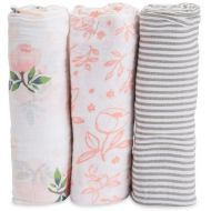 Little Unicorn Cotton Muslin Swaddle 3-Pack - Garden Rose
