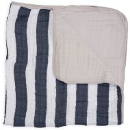 Little Unicorn Cotton Muslin Quilt - Navy Stripe