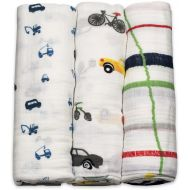 Little Unicorn Cotton Muslin Swaddle 3-Pack - Traffic Jam