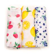 Little Unicorn Cotton Muslin Swaddle 3-Pack - Berry Lemonade