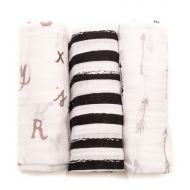 Little Unicorn Cotton Muslin Swaddle 3-Pack - Black & White