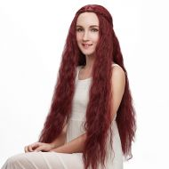 Liz Wig Game of Thrones Character Melisandre Long Wavy Cosplay Wig 32 Wine Red