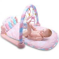 Luerme Baby Kick and Play Piano Gym Lay & Play Mat Musical Activity Gym (Pink)