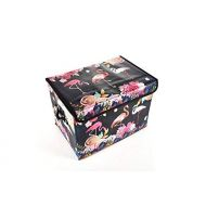 Luxury Home Kids Collapsible Toy Chest Collection Flamingo Toy Box Folding Storage Ottoman for Kids Bedroom | Perfect Size Toy Chest for Books, Kids Toys, Baby Toys, Baby Clothes