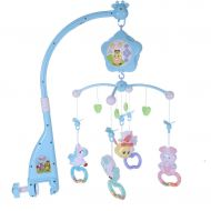 Mosunx Toys Baby Crib Mobile,Mosunx 3 in 1 Newborns Crib Toys with Music and Lights, Remote, Holder Projector, Crib Wind Chimes Decoration for 0-2 Years Old Boys Girls (Blue, 0-2 Years Old)