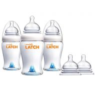 Munchkin Latch Anti-Colic 8 Ounce Baby Bottles with Replacement Stage 3 Bottle Nipples