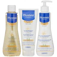 /Mustela Bathtime Gift Set, Baby Skin Care Available for Normal, Dry, Sensitive, and Eczema Prone Skin