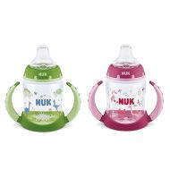 NUK 2 Count Pretty In Pink Leaner Cup, 5 oz, Hot Air Balloons and Hello Kitty