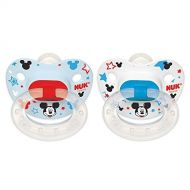 NUK Disney Mickey Mouse Orthodontic Silicone Pacifier 2 Pack (0-6Months) Size 1 by NUK