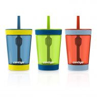 상세설명참조 Contigo Spill-Proof Kids Tumbler, 3-Pack, Nautical, Granny Smith And Vermillion