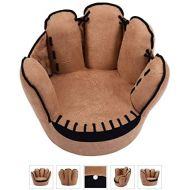No!no! no!no! VD-54191HW Kids Sofa, Baseball Glove Shaped Fingers Style Toddler Armchair Living Room Seat, Children Furniture TV Chair, Brown