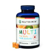 Nutrimin Multi+ Gummy for Kids - Allergen Free Vegetarian Vitamins and Nutrients - 120 Count of Halal Multivitamin Gummies (30 Day Supply)