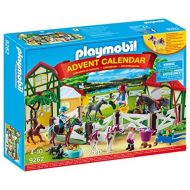 PLAYMOBIL Advent Calendar-Horse Farm Playset, Multicolor