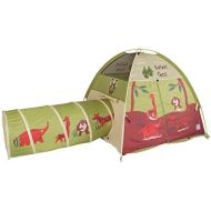 Pacific Play Tents 20435 Kids Safari Fun Dome Tent Crawl Tunnel Combo Indoor  Outdoor Fun
