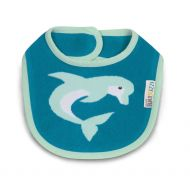 Pavilion Gift Company Izzy and Owie One Size Fits All Dolphin Bib, Blue