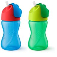 Philips AVENT Philips Avent My Bendy Straw Cup, 10oz, 2pk, Blue/Green, SCF792/21